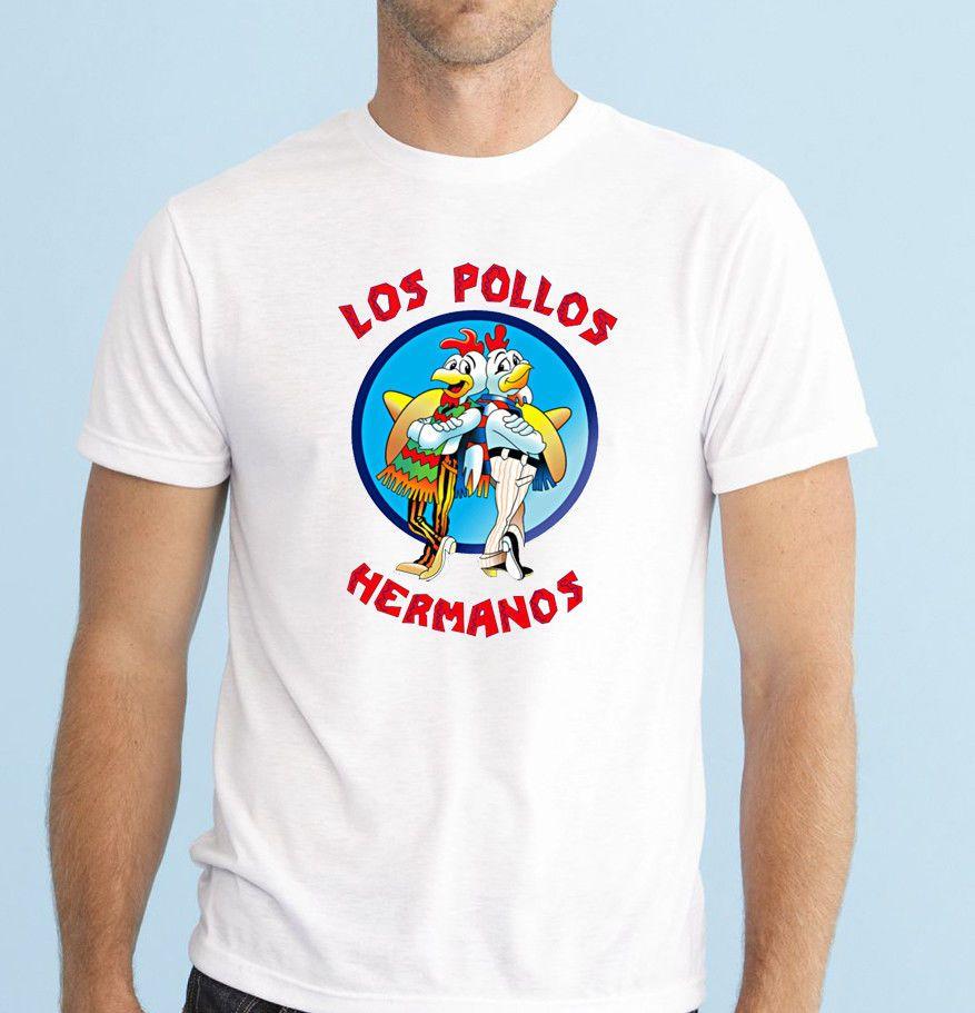Los Pollos Hermanos Mens Breaking Bad T-Shirt Top Tee Heisenberg Shirt
