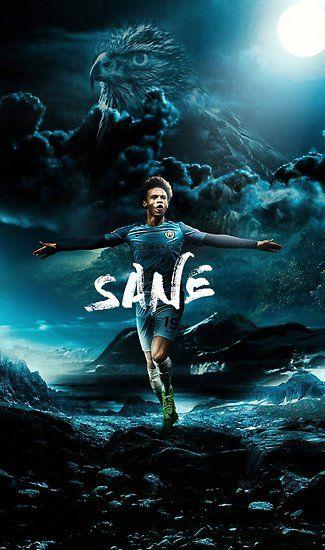 Illustration Sane Art Poster By Jordansubekti In 2020 Manchester City Manchester City Wallpaper Manchester City Football Club