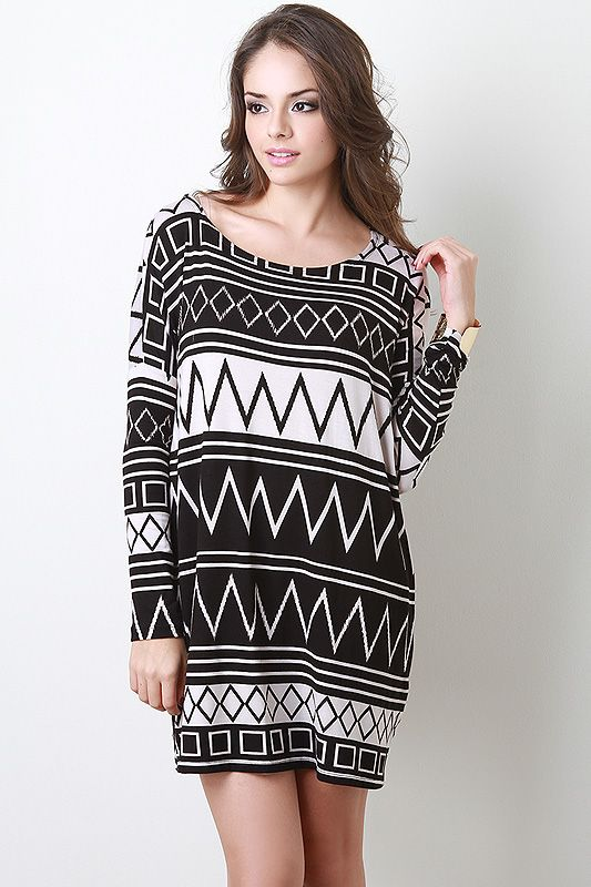 Geo Division Soft Knit Dress