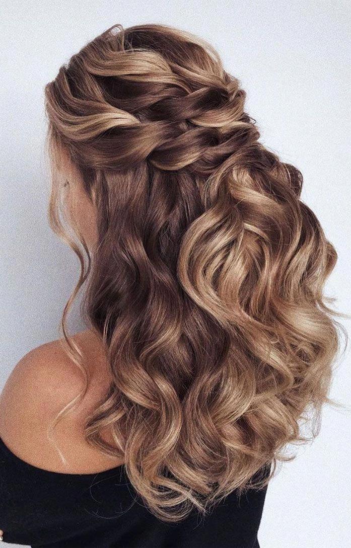 43 Gorgeous Half Up Half Down Hairstyles , partial updo hairstyle , braid half up half down ...