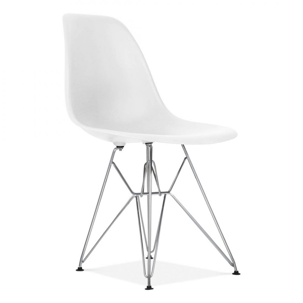 Charles Eames Style Off White DSR Eiffel Chair