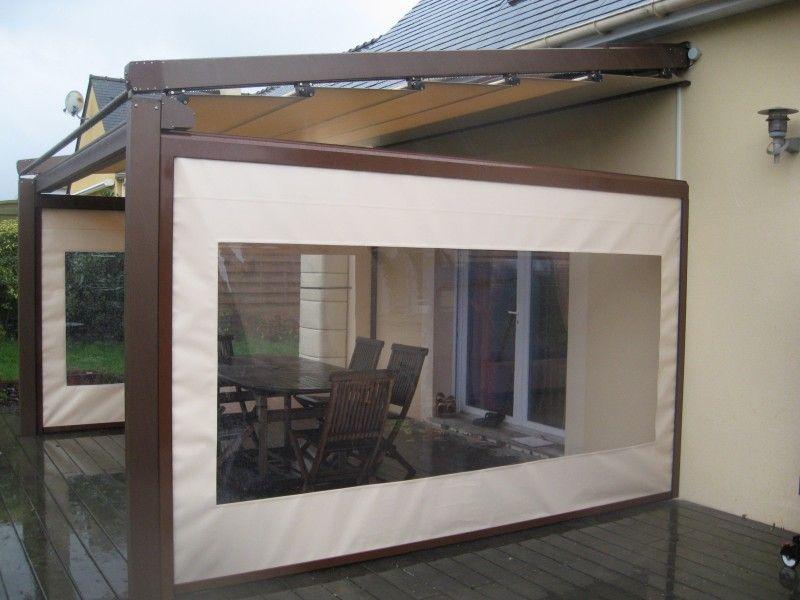 Pergola alu motoris pergosol id es am nagement terrasse jardin pinterest for Pergola aluminium castorama