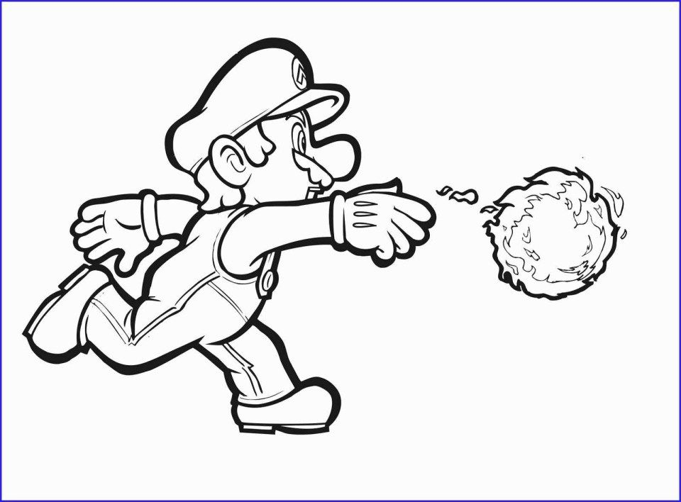 Mario Coloring Pages Awesome Super Mario Bros Coloring Pages