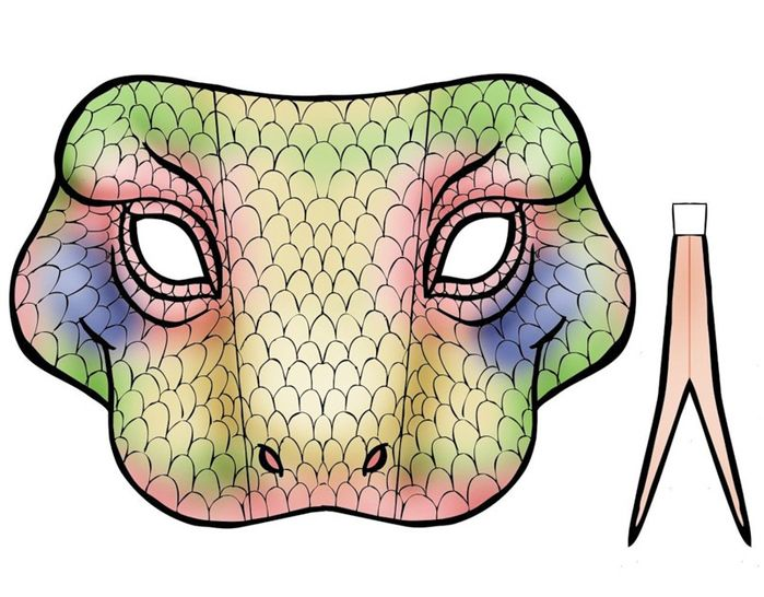 Printable Snake Mask With Tongue Crafts Pinterest