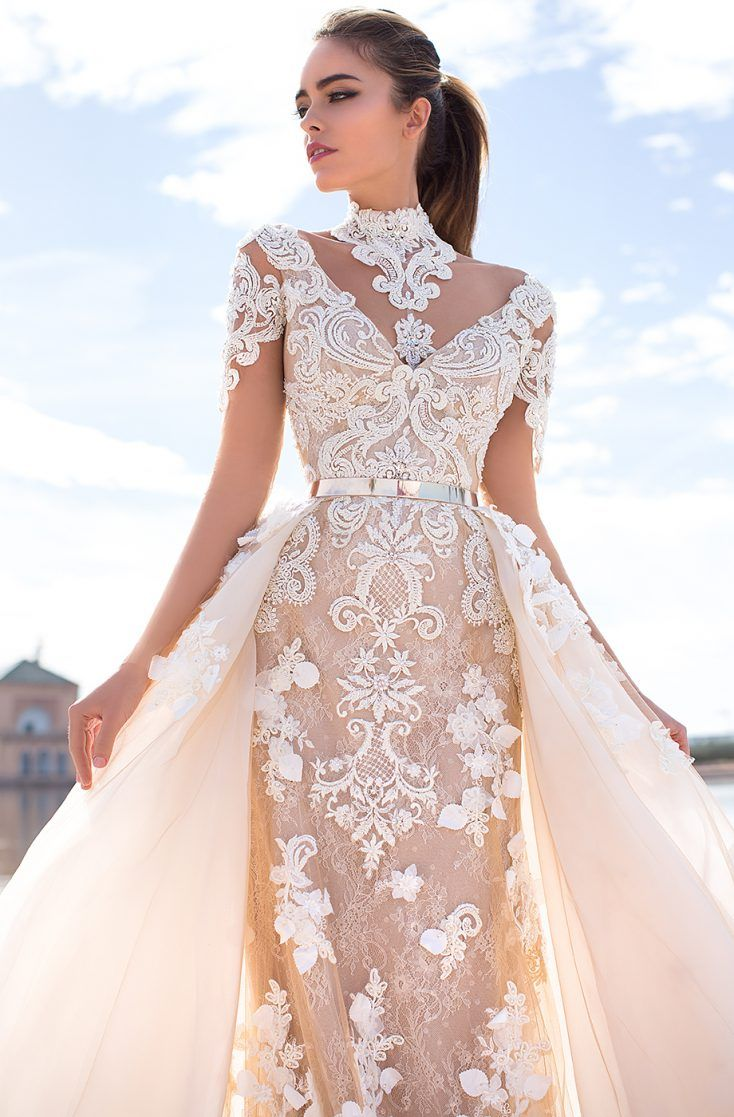 Mermaid wedding dress with detachable train  Unique bridal couture Lorenzo Rossi calls your attention to new