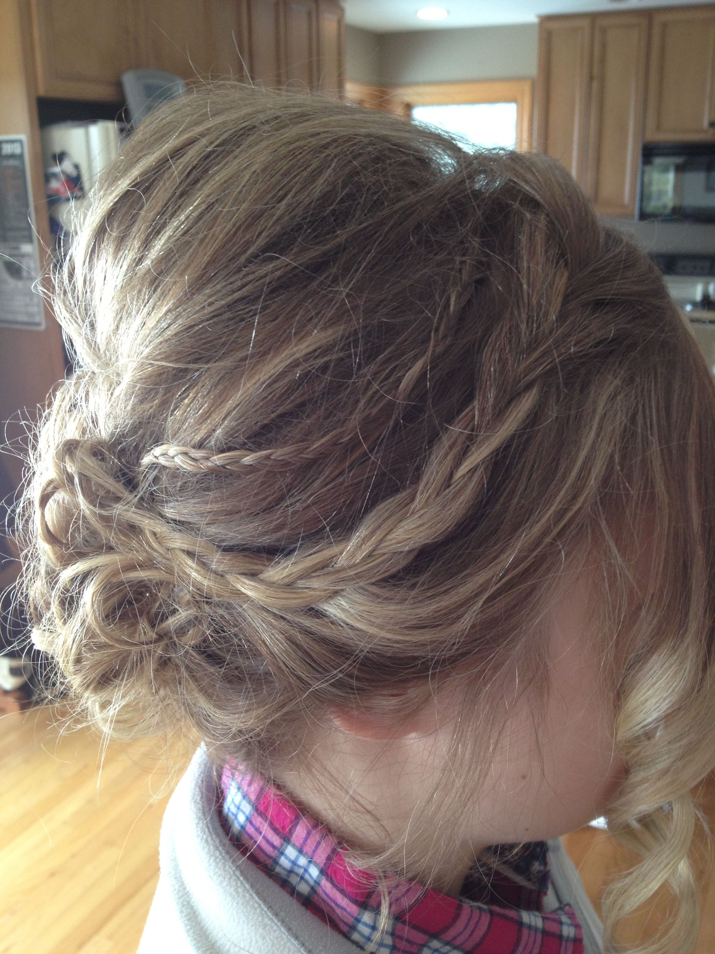 The side view of my previous prom hair updo pin