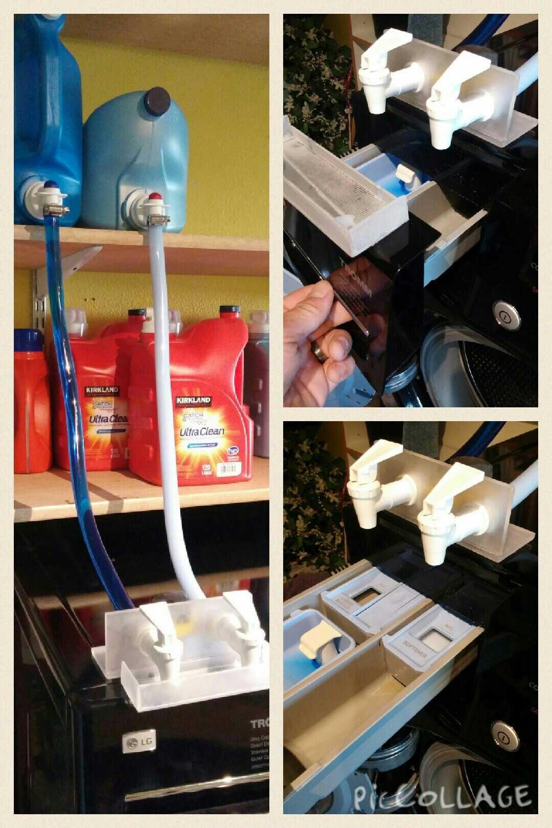 Washing Machine Detergent Softener Dispenser Soap Dispenser Diy Laundry Room Diy Laundry Room