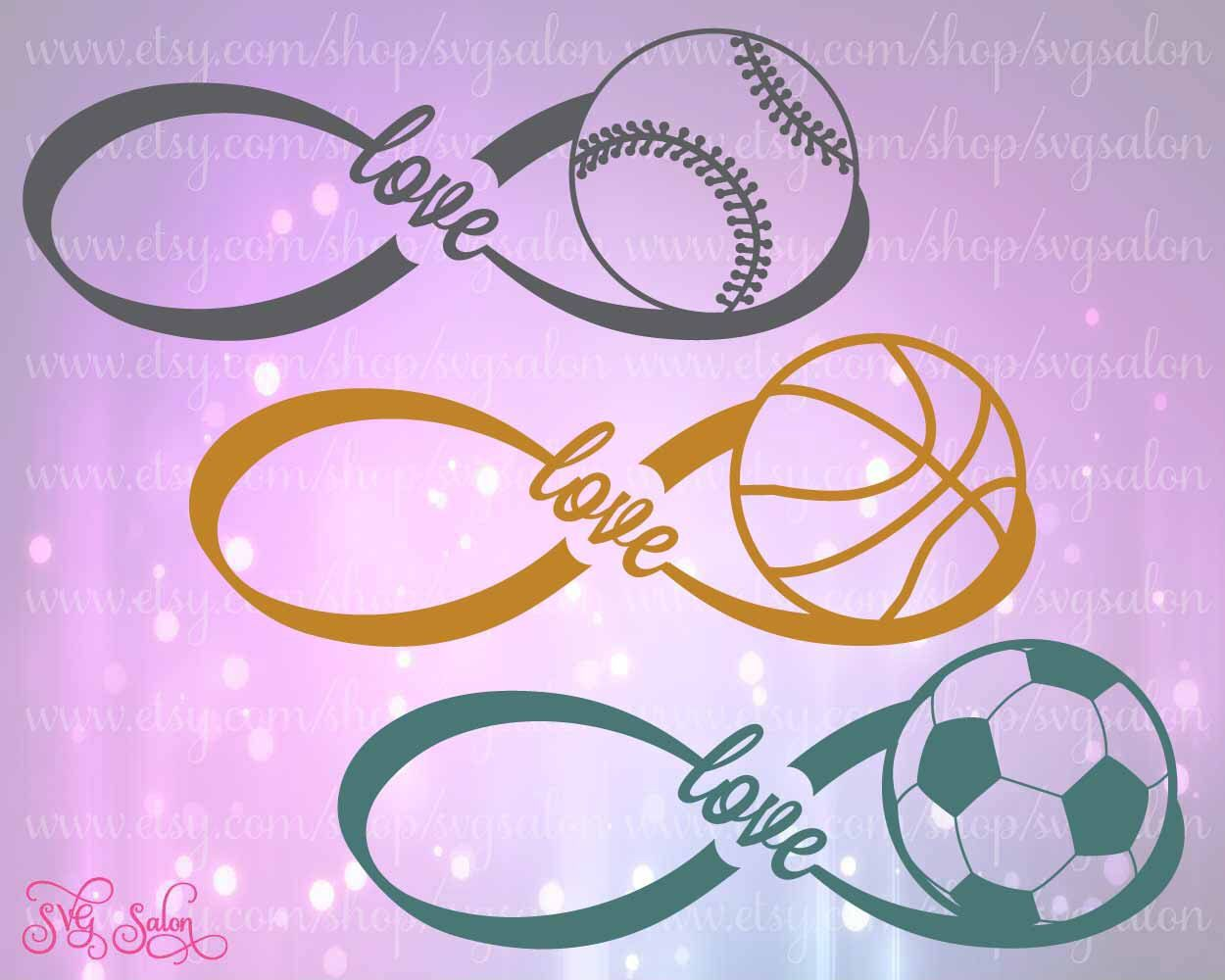 Infinity love sports cutting file set for basketball baseball infinity love sports cutting file set for basketball baseball and soccer in svg biocorpaavc Choice Image