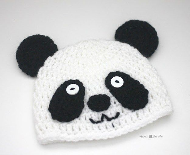Crochet Panda Bear Hat | Hats | Pinterest
