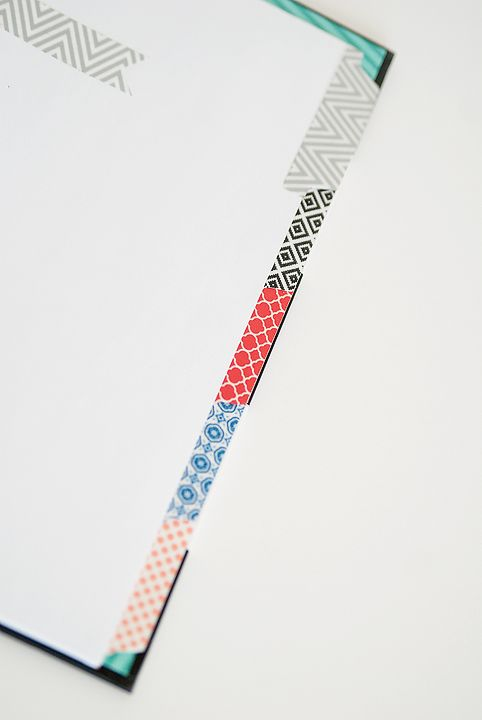 Ways To Use Washi Tape Binder Dividers Washi Tape