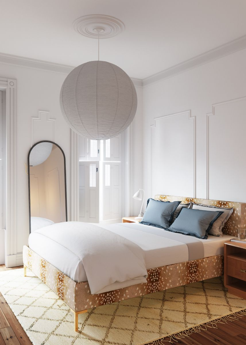 Modern Platform Bed in Fawn Furniture