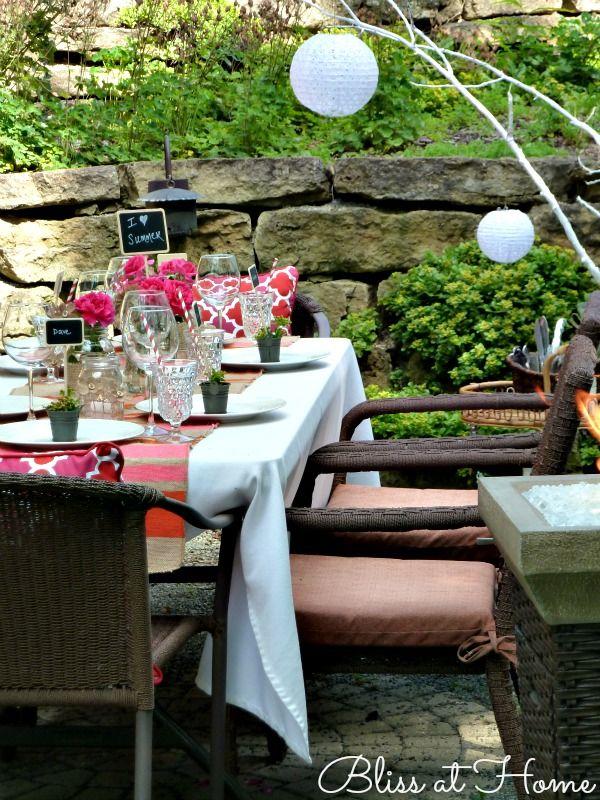 hosting a summer dinner party table settings party dinner rh pinterest com