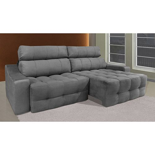 Sof 4 lugares reclin vel e assento retr til connect suede for Sofa 4 lugares reclinavel e assento retratil