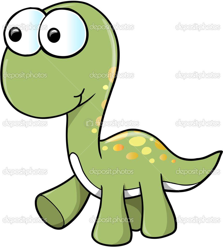 Cute Dinosaur Vector — Stock Illustration #13874687   Dino Cake ...