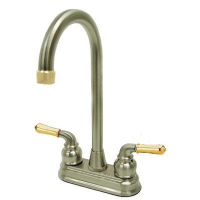 kingston brass magellan double handle centerset high arch bar faucet rh pinterest com