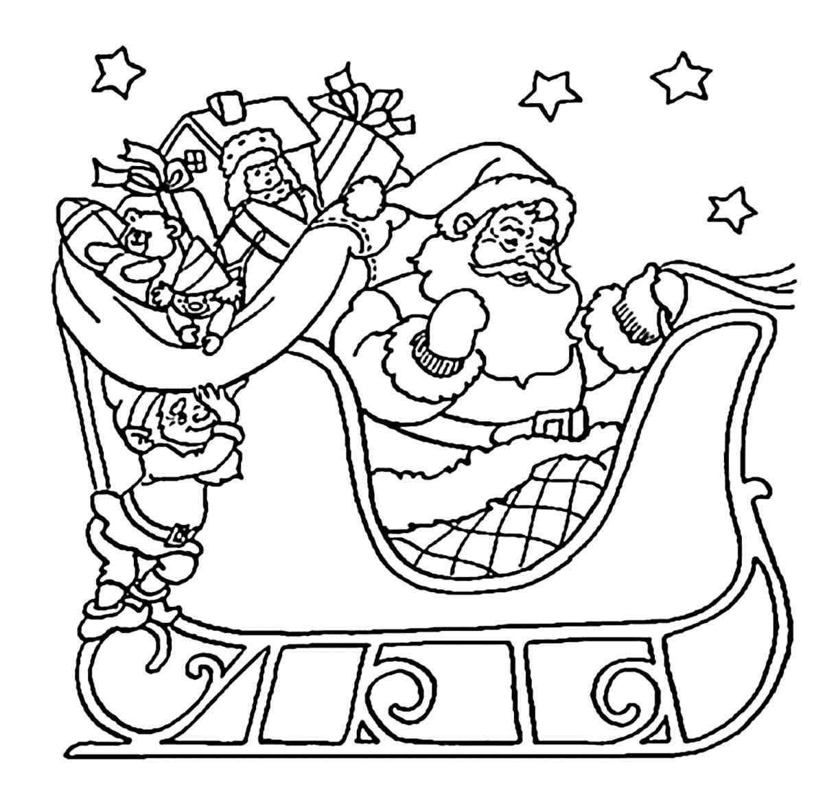 New Post merry christmas santa coloring pages | xmast | Pinterest