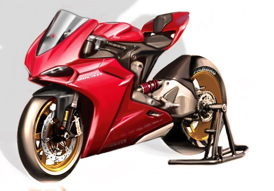Red Ducati Passion! 1199 Panigale Sketch | car | Pinterest ...
