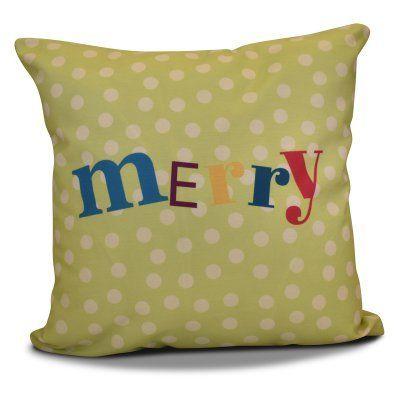 E By Design Merry Dot Decorative Pillow Green - PHWN666GR21IV5-18