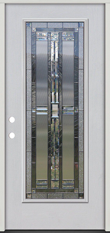 Full Lite Fiberglass Prehung Door Unit FGW297 - - Amazon.com
