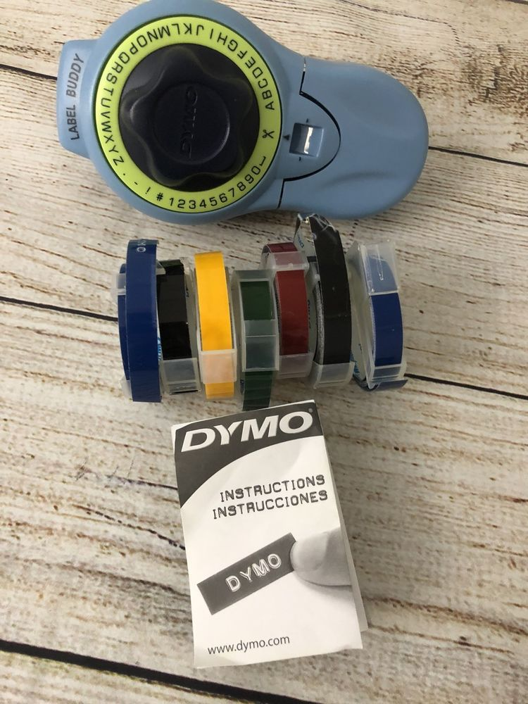 Dymo Label Buddy Embossing Label Maker W 7 Colored Rolls