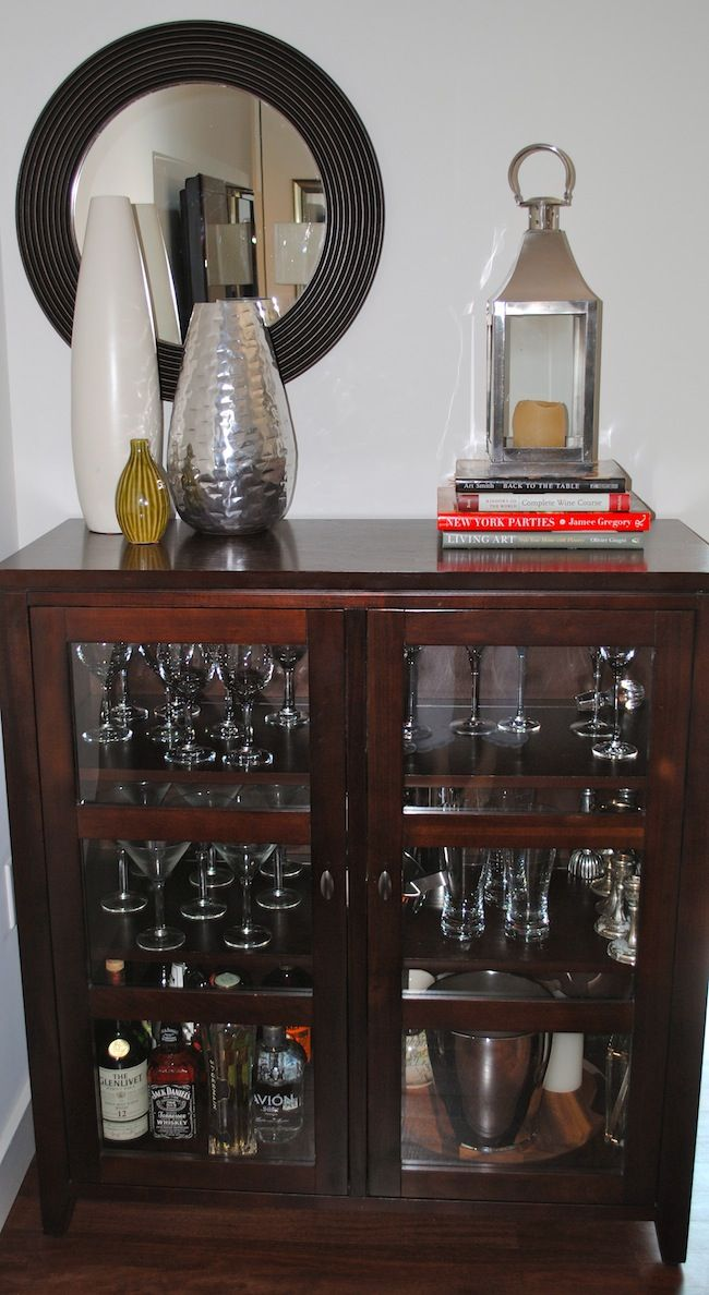 bar using a liquor cabinet home decor ideas accents home bar rh pinterest com