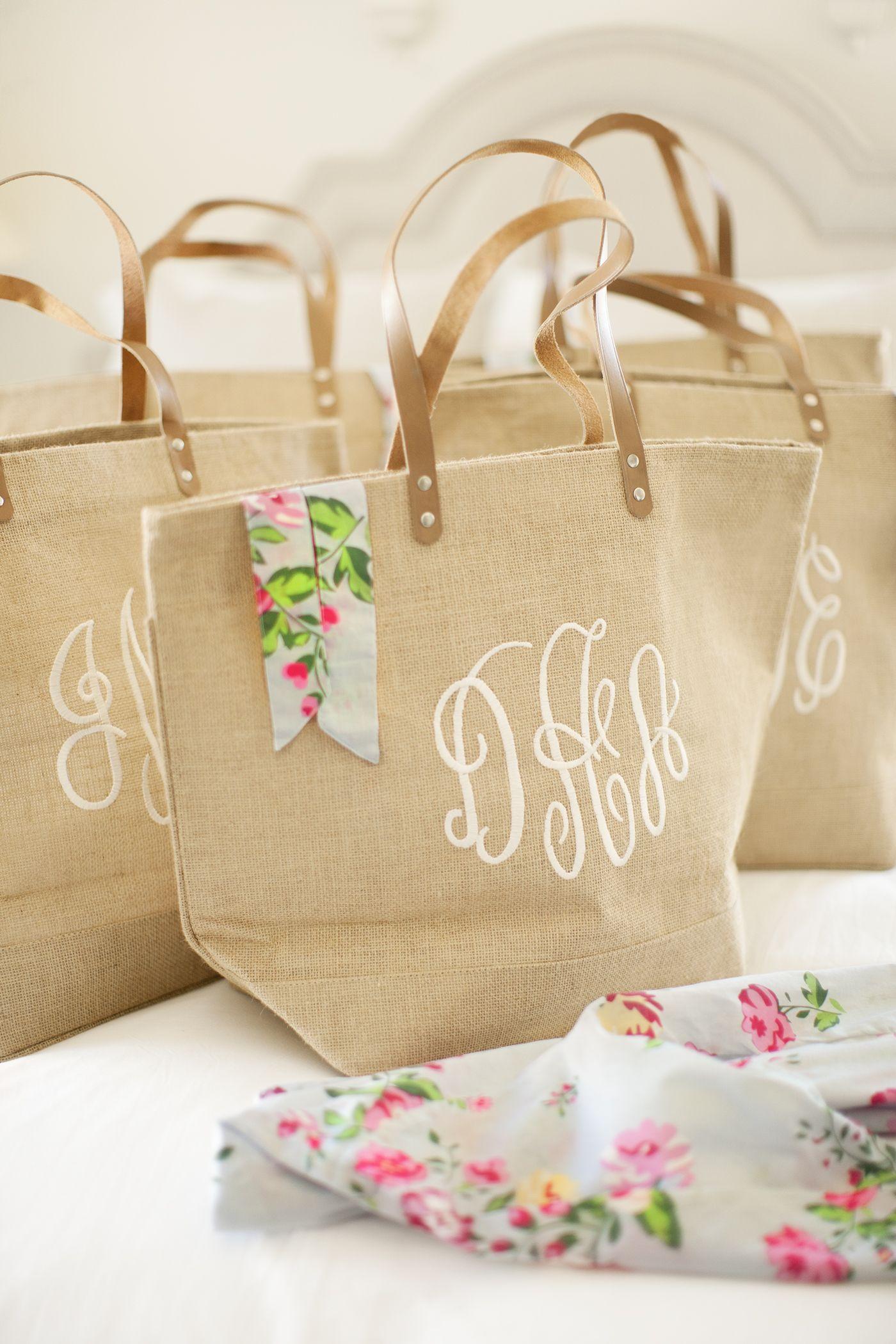 Rosemary Beach Wedding Alys Seaside Bridesmaids Gift Idea Robe Burlap Monogrammed Bag
