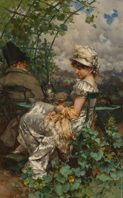 Frederik Hendrik Kaemmerer- Afternoon tea in the garden