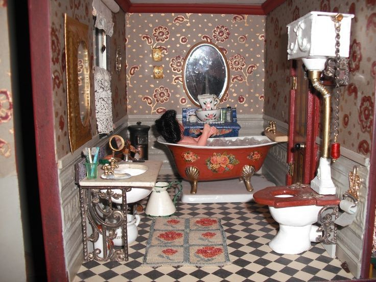 image result for dollhouse victorian bathroom ideas doll houses rh pinterest com