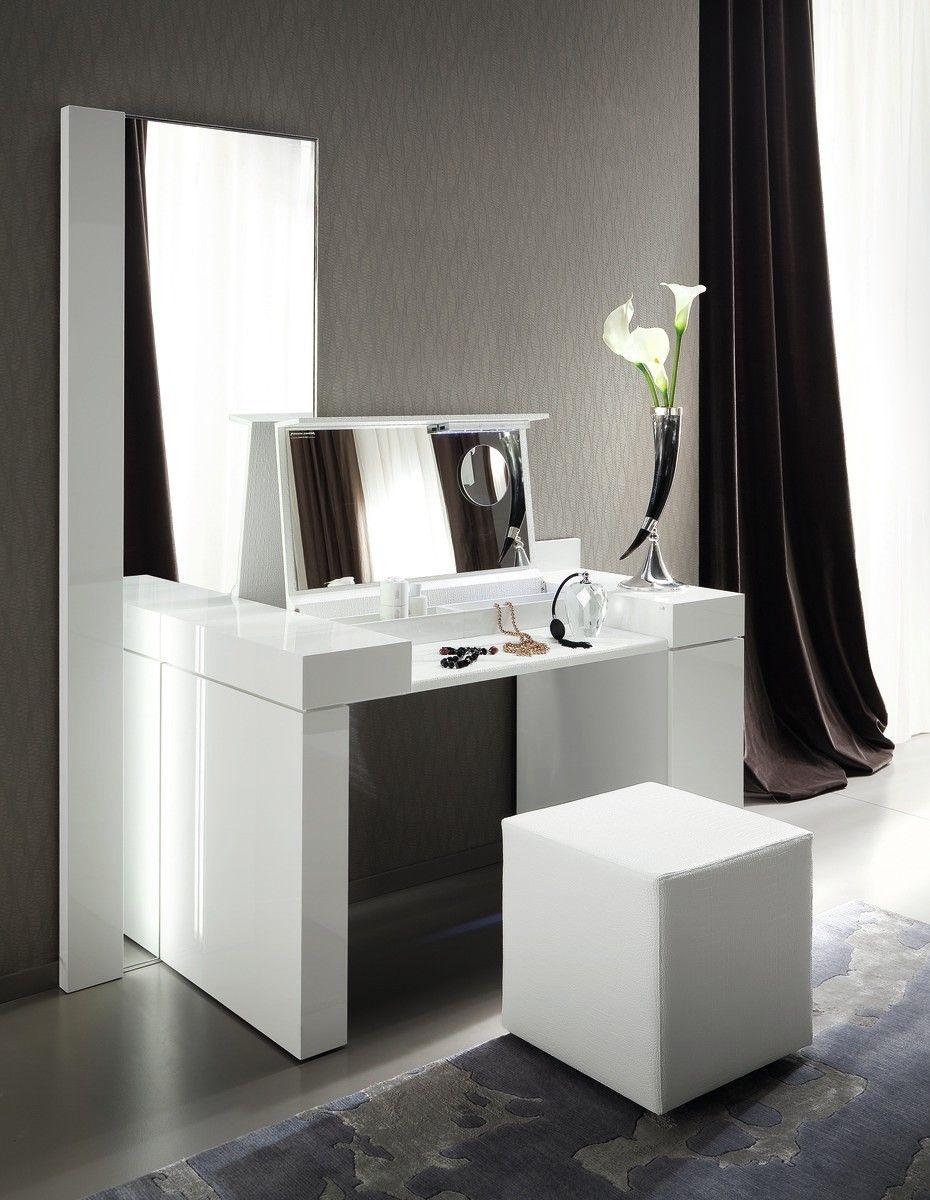Bedroom Rustic Makeup Vanity White Vanity Silver