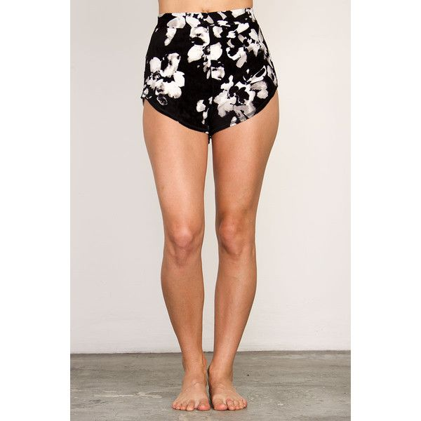 RVCA Women's  Daisy Lane Shorts ($35) ❤ liked on Polyvore featuring black and rvca