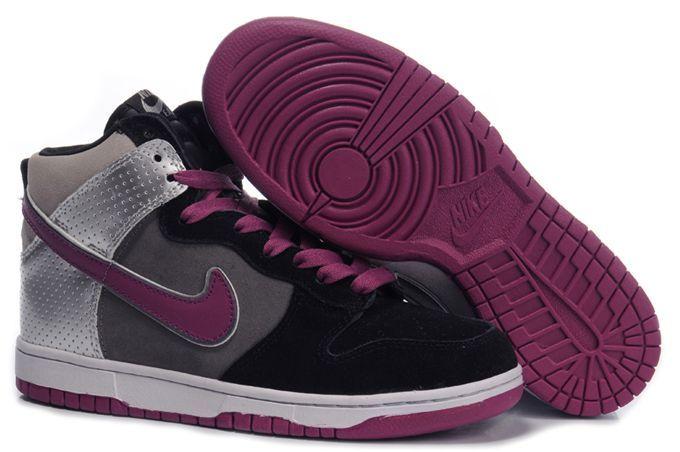 22d01e71fa90 Nike Dunk High Athletics East Black Purple
