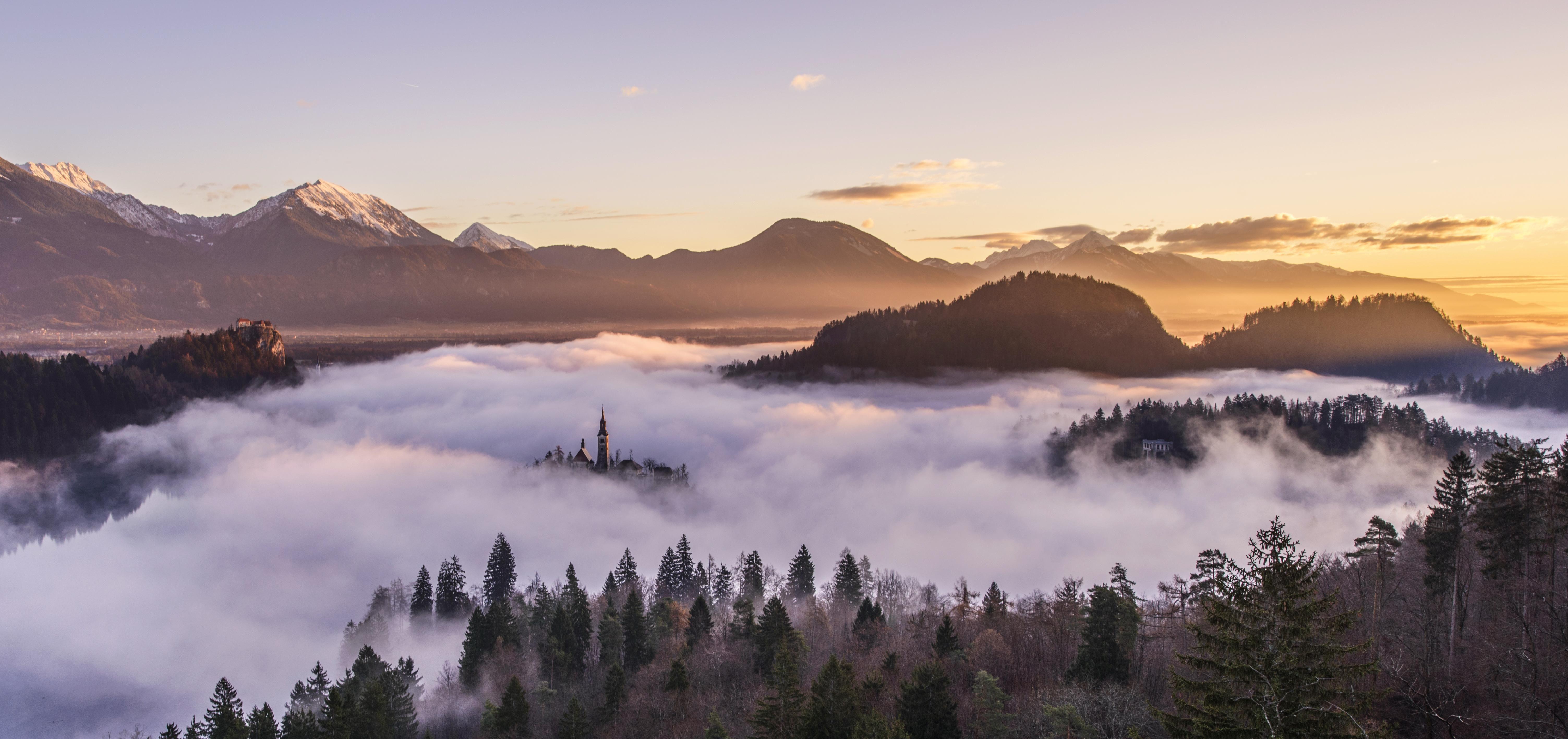 A Foggy Landscape x pixels Wallpapers Pinterest