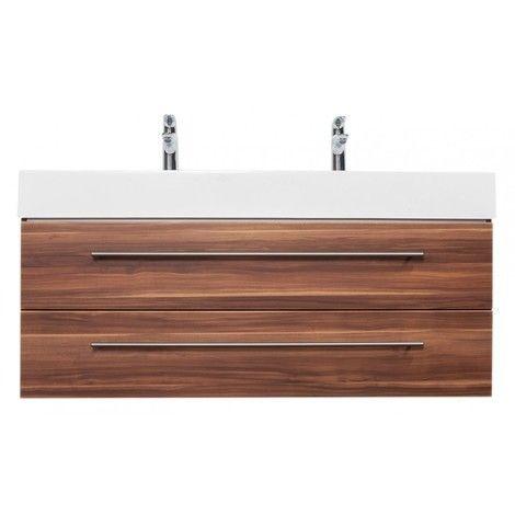 Meuble double vasque Design 1200 noix satiné