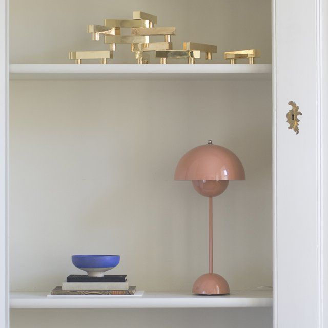 """Lampe à poser """"Flower Pot"""" design Vernon Panton, tendance vieux rose, &Tradition"""