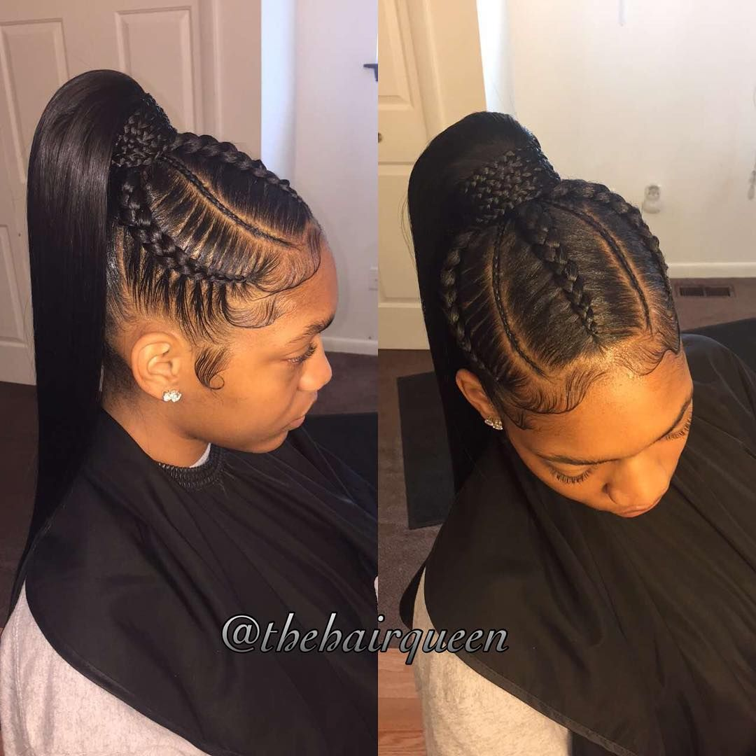 Instagram Thehairqueen To Book Your Next Hair Styling Service With Ms Dominique Please Email Thehairqueen85 Gmai Hair Styles Braided Ponytail Hairstyles Hair