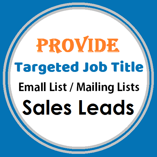Provide You 200 Targeted Email List of CEO, CFO, CMO, CTO