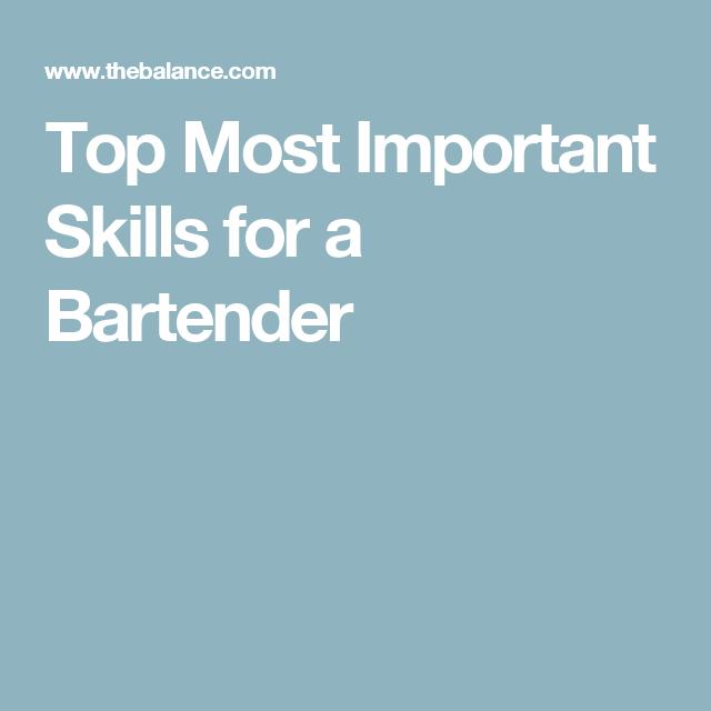 Bartender Skills List and Examples | Resume | Pinterest | Bartenders ...