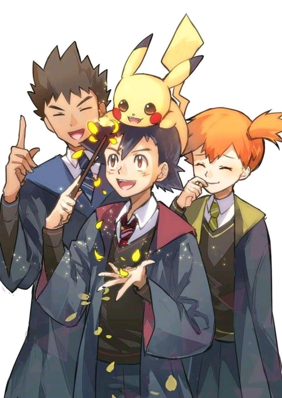 Misty Ash Pikachu N Brock! In Hogwarts!