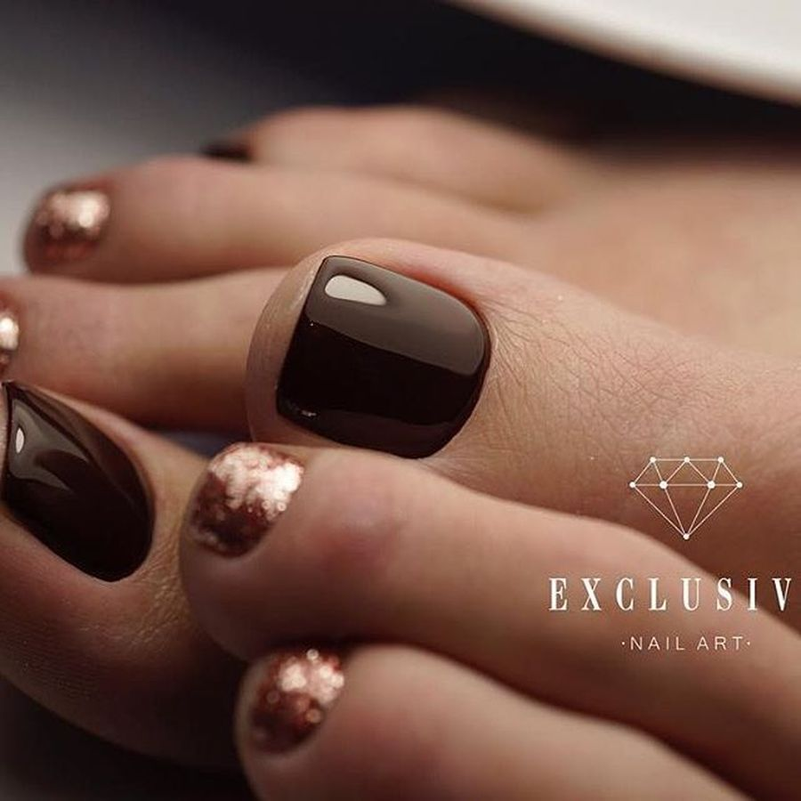 Inspiring Cool Fall Autumn Toe Nail Art Designs: Swag Thanksgiving Nails Art That Must You See