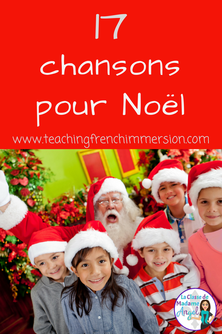 Les chansons de Noël! Engage your French Immersion students with these fun, Fre…