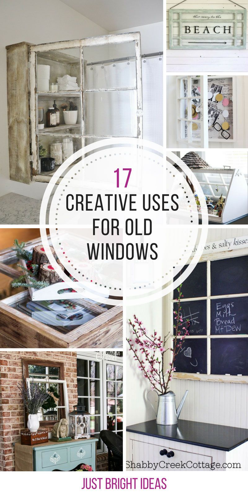 These creative uses for old windows are