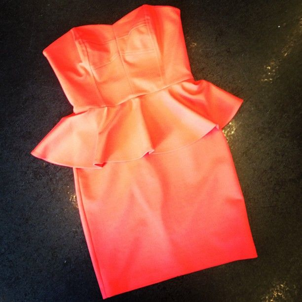 Strapless Peplum Dress. Photo by Gena Chandler