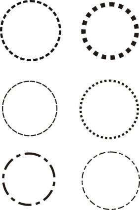 dotted line circle vector | Cricut | Pinterest | Circles