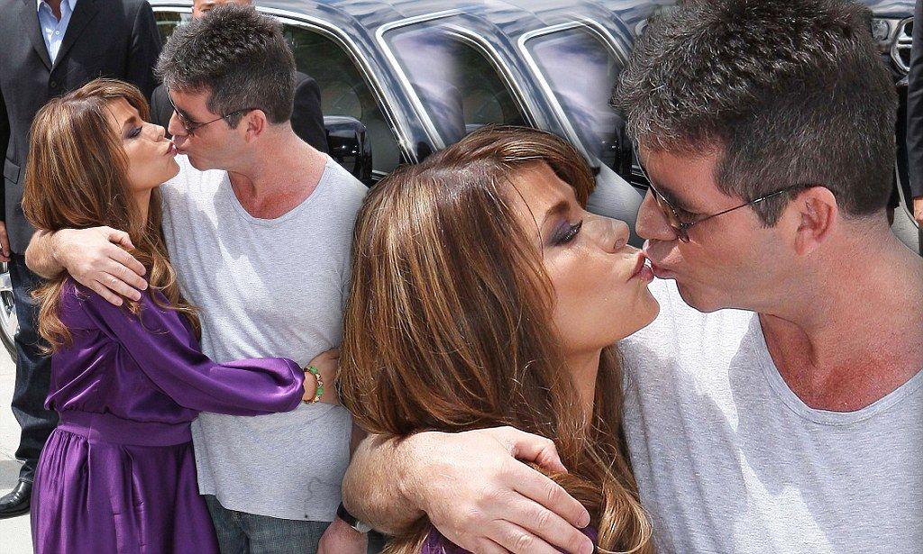 Who Needs American Idol Simon Cowell Gives Paula Abdul A Kiss As