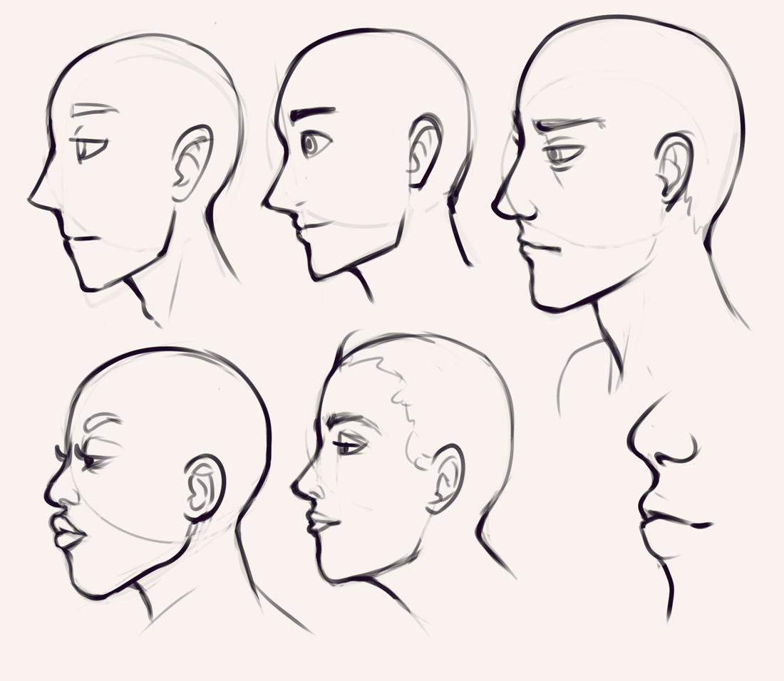 Drawing drill 19 Expressions, hands, torsos, profiles