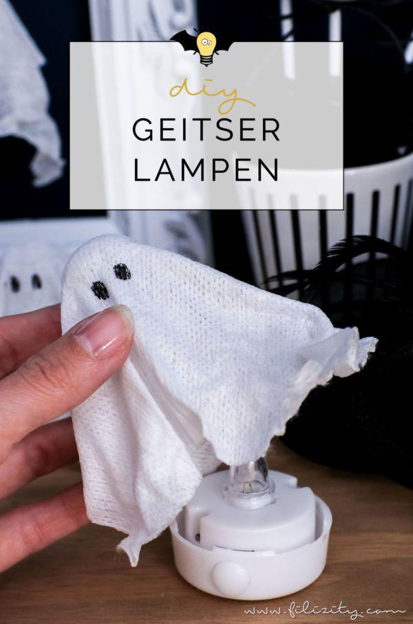 DIY Halloweendeko selber machen: Geister-Lampen und Geister-Anhänger | Filizity.com | Food-Blog aus dem Rheinland