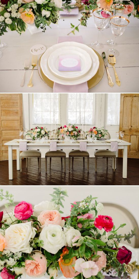 spring bridal shower table decor Spring Bridal