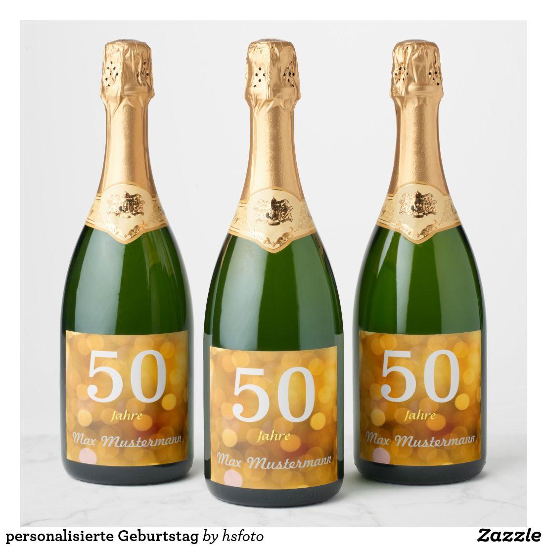 Personalisierte Geburtstag Champagneretikett Zazzlede In