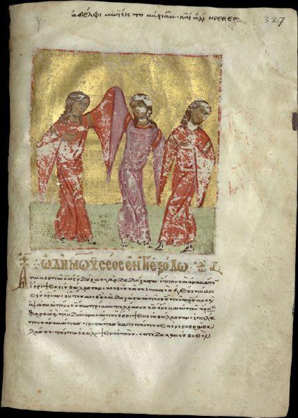 Myriam chantant la victoire, cantiques, Chypre, 2è moitié du XII è siècle (BNF)