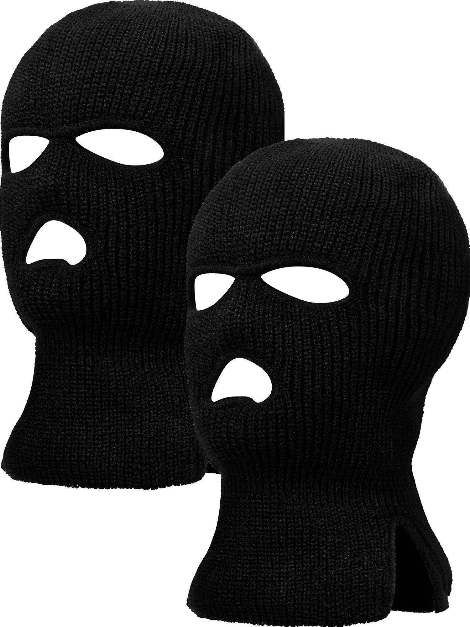3 Hole Warm Ski Mask Balaclava Black Full Face Shield Beanie Cap Winter Outdoor
